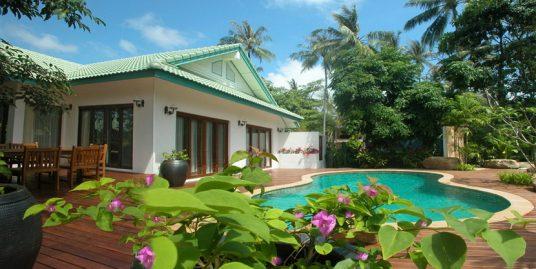 Laem Set beach villa 4 chambres piscine club enfants plage