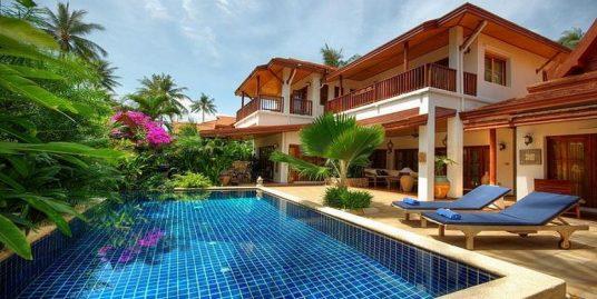 Laem Set villa Buaa 3 chambres piscine restaurant bar plage