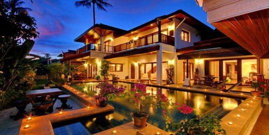 Laem Set villa Frangipani 4 chambres piscine fitness plage