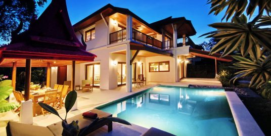 Laem Set villa Leelavadee 3 chambres piscine spa plage