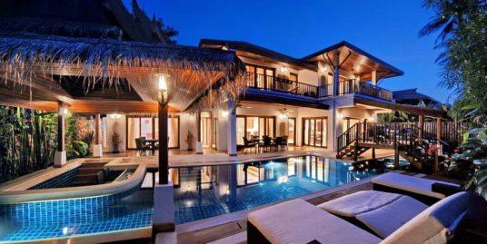 Laem Set villa Oasis 4 chambres piscine spa fitness plage