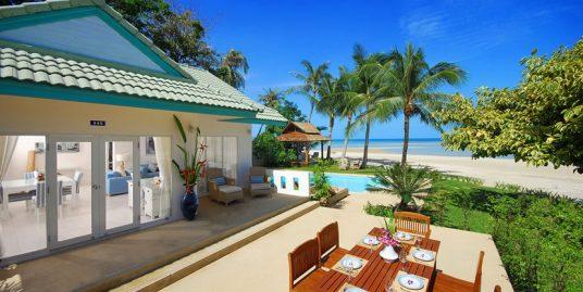 Laem Set villa Rim Haad 3 chambres piscine bord de plage