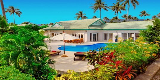 Laem Set villa Sabai 4 chambres piscine spa fitness plage