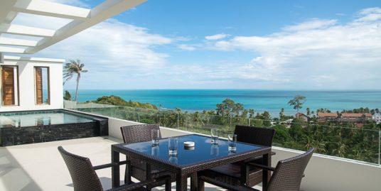 Lamai penthouse appartement 2 chambres piscine vue mer