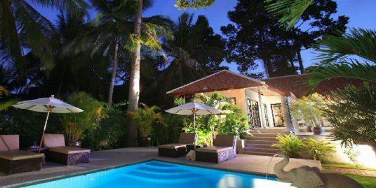 Location Bang Kao villa 3 chambres piscine spa fitness