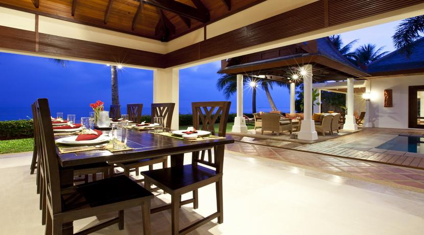 Villa luxueuse Maenam salle a manger dehors (2)_resize