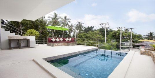 Chaweng villa resort 4 Chambres piscine vue mer