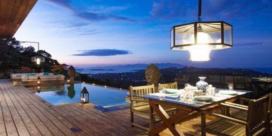 Choeng Mon villa luxueuse 1/2/3 chambres piscine vue mer