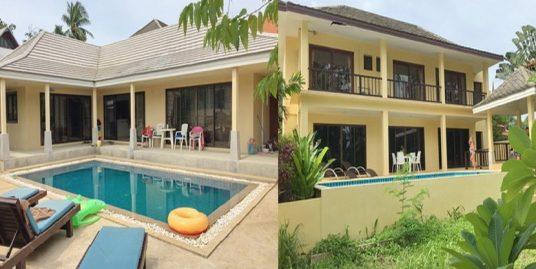 A vendre 2 villas Bangrak Koh Samui 2+3 chambres piscine