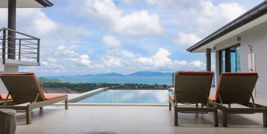 A louer villa Bophut Koh Samui 4 chambres piscine vue mer