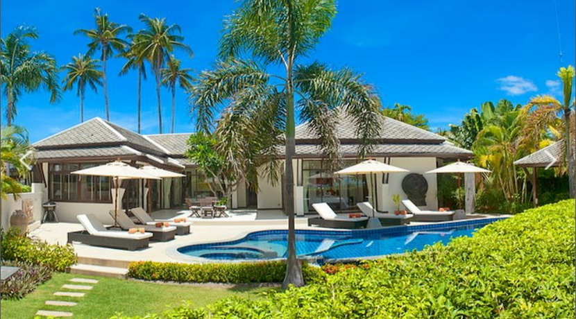 A louer villa Koh Samui Plai Laem 3 chambres piscine bord de plage VILLA BAHARI_resize