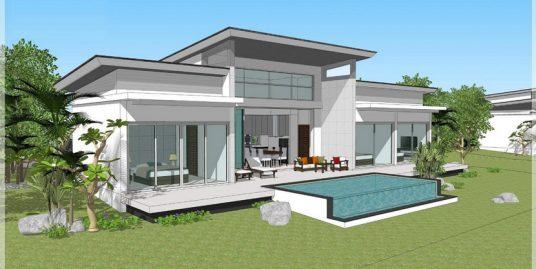 A vendre villa sur plan Chaweng Koh Samui