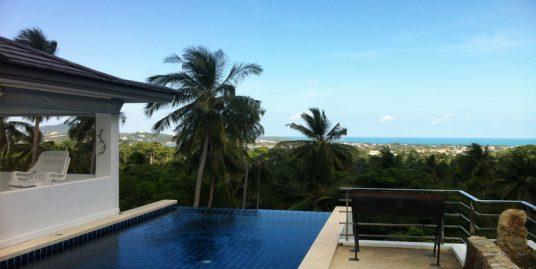 Chaweng villa à louer 3 chambres piscine jacuzzi vue mer