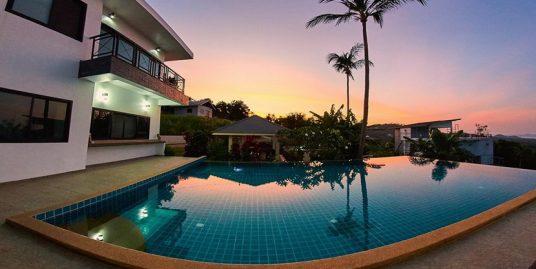 Location Bophut villa 4/5/6 chambres piscine vue mer