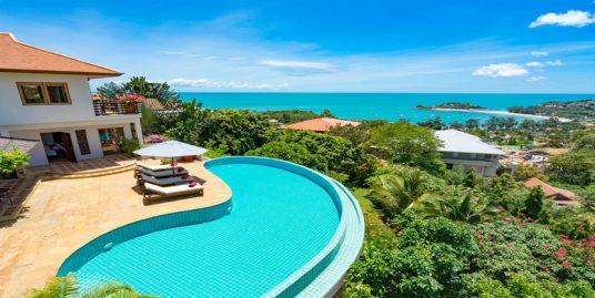 Location villa Choeng Mon Koh Samui 3/4 chambres piscine vue mer
