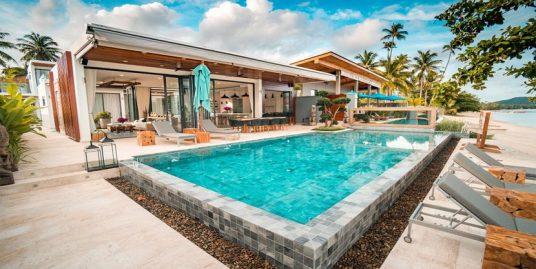 Location villa plage Laem Sor Koh Samui 7 chambres piscine vue mer