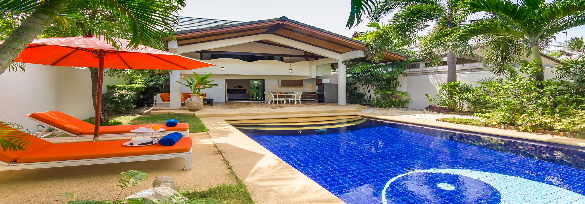 Fo rent Koh Samui Ban Tai villa 2 bedrooms pool beach