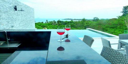 Villa Choeng Mon 3 chambres bar piscine privée vue mer