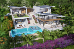 Villas Bophut Koh Samui sur mesure en vente Day View_3 Bed_resize
