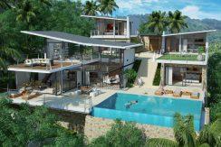 Villas Bophut Koh Samui sur mesure en vente Day View_4+1 Bed_resize