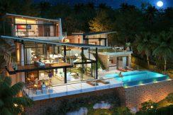 Villas Bophut Koh Samui sur mesure en vente Night View_5+1 Bed_resize