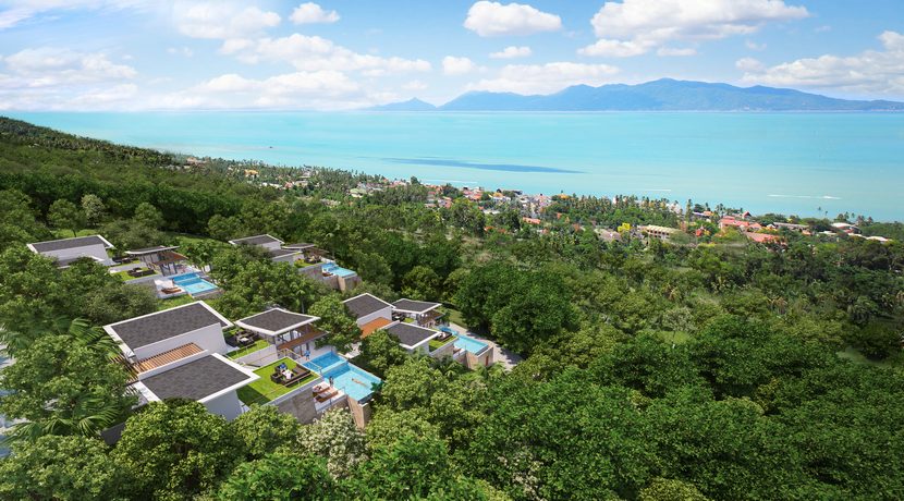 Villas Bophut Koh Samui sur mesure en vente Plot A Birdseye_resize