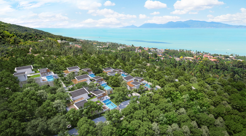 Villas Bophut Koh Samui sur mesure en vente Plot B Birdseye_resize
