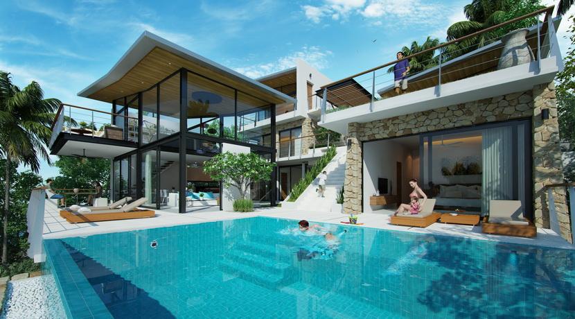Villas Bophut Koh Samui sur mesure en vente Pool Area_resize