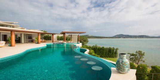 A louer villa front mer Plai Laem Koh Samui 4 chambres piscine