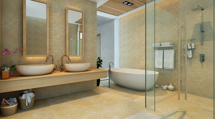 A vendre sur plan villa Chaweng Noi Koh Samui salle de bains_resize