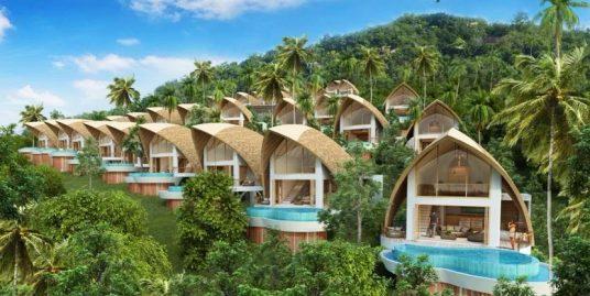A vendre sur plan villa Chaweng Noi 1-2 chambres piscine vue mer