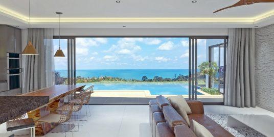 A vendre villas Chaweng Noi sur plan 3 chambres piscine vue mer