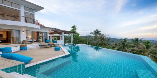 Bophut Koh Samui location villa 5 chambres piscine vue mer