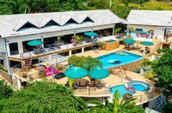 Villa 12 chambres Bophut Koh Samui vue mer (4 appartements + 2 studios)
