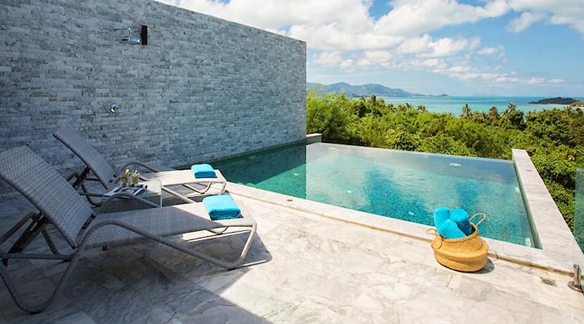 Villa contemporaine Koh Samui à vendre 4 chambres piscine vue mer