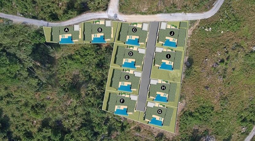 A vendre villa Chaweng Noi sur plan Koh Samui
