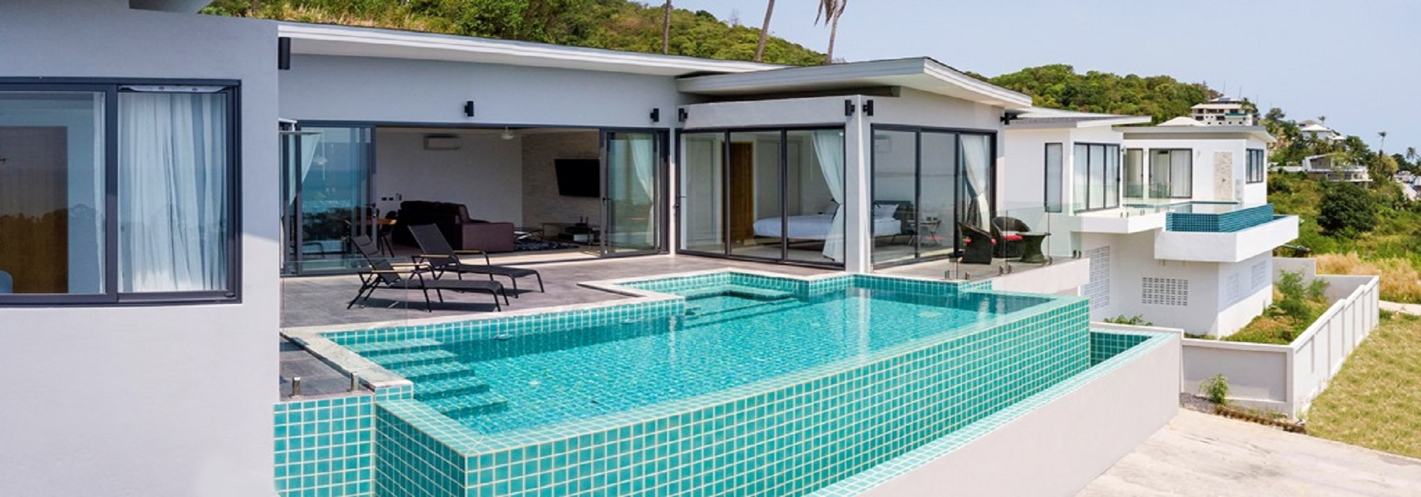 For sale villa chaweng Noi Koh Samui - 5 bedrooms pool sea view