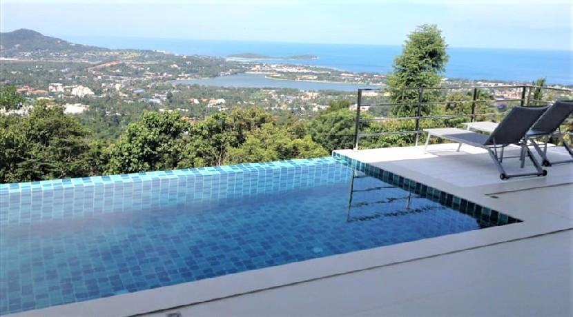 A vendre villa Chaweng hills Koh Samui – vue mer avec piscine
