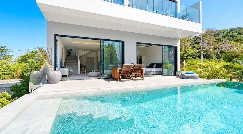 Villa Plai Leam à vendre sur Koh Samui – 3 chambres – piscine – vue mer