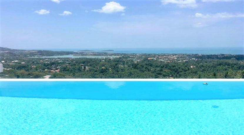 Villa à vendre à Chaweng Koh Samui – 3 chambres – piscine – vue mer