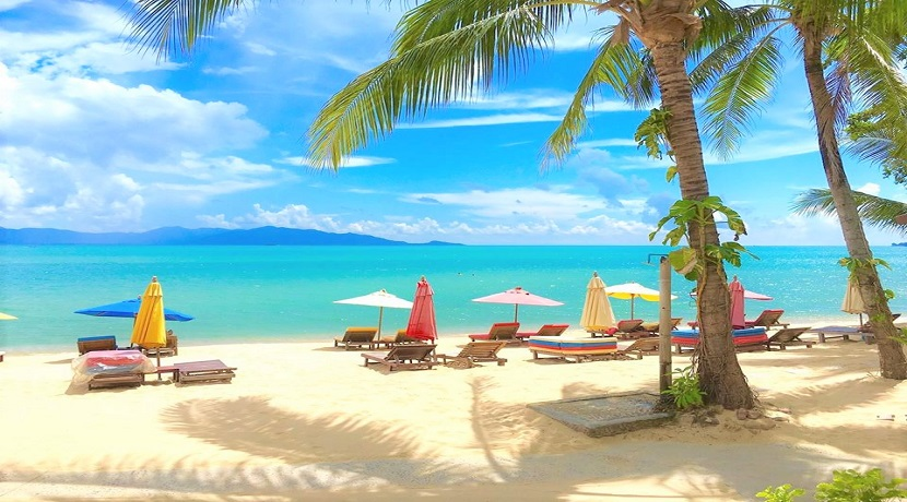 A louer resort en bord de mer avec restaurant à Maenam – Koh Samui