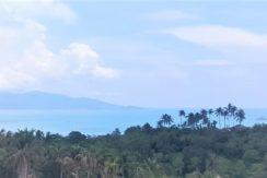 Terrain plat vue mer à vendre à Bophut Koh Samui