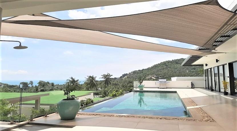 A vendre villa vue mer Chaweng Noi à Koh Samui – 5 chambres – piscine