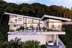 A vendre villa vue mer Choeng Mon à Koh Samui