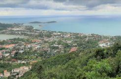 A vendre terrain vue mer Chaweng Hill Koh Samui