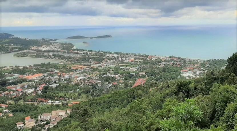 A vendre terrain vue mer Chaweng Hill à Koh Samui – 11.200 m²