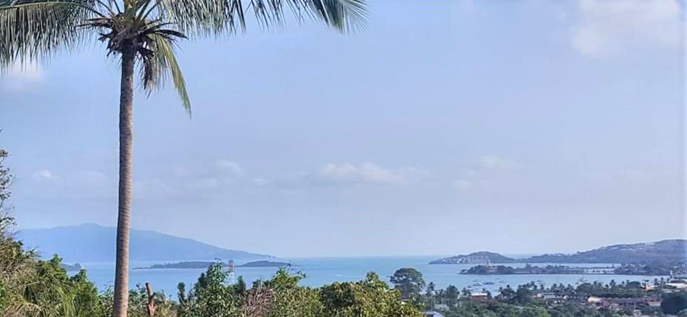 A vendre terrain vue mer à Bangrak Koh Samui – 1.600 m² – Chanote