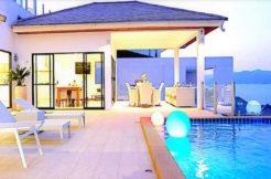 Villa vue mer à vendre à Choeng Mon Koh Samui