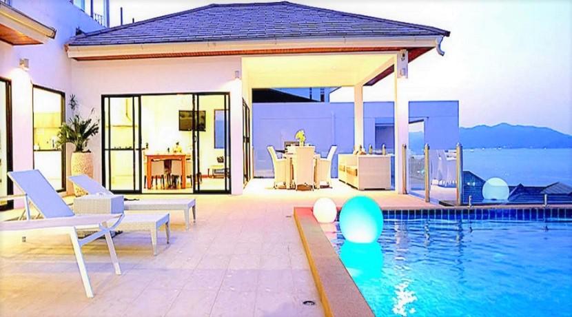 Villa vue mer à vendre à Choeng Mon Koh Samui – 3 chambres – piscine