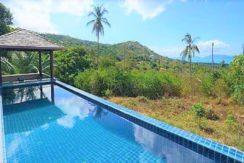 Vue mer villa à vendre à Bophut Koh Samui